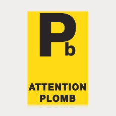 "Étiquette ""Attention plomb"""