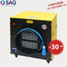 Extracteur d'air à filtration absolue EV3200-F, 5 400 m³/h, conforme INRS ED 6307