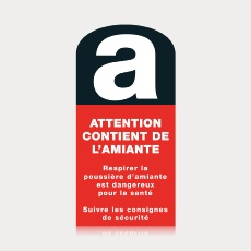 "Étiquette ""Attention contient de l'amiante"""